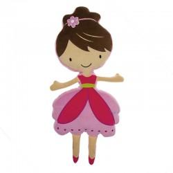 Coussin adorable en forme de ballerine