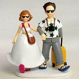 Gateau mariage figurine humoristique