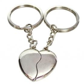 Idee cadeau porte cle coeur a partager  Porte