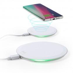 Chargeur sans fil blanc à charge rapide