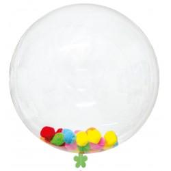 Pack Ballon Bulle Transparent 45 cm