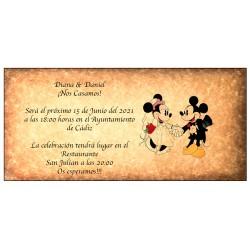 Faire-Part de Mariage Disney Retro