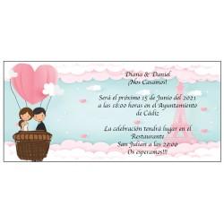 Invitation de mariage de la tour Eiffel