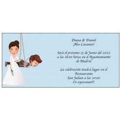 Invitation de mariage drôle