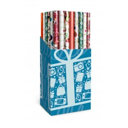 Emballage cadeau de Noël bon marché en 6 modèles assortis