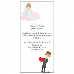 Invitation de mariage posée à la main
