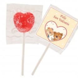 Sucettes Saint Valentin en forme de coeur