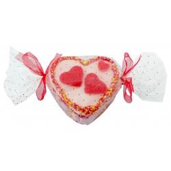 Mini gâteau aux bonbons en forme de cœur