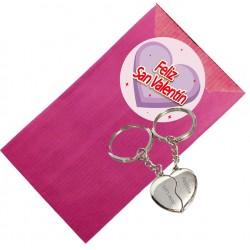 Porte-clés coeur personnalisé pour la Saint Valentin