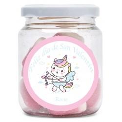 Pot de bonbons personnalisé pour la Saint Valentin