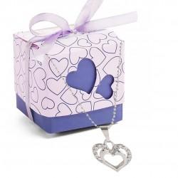 Pendentif coeur pour la Saint Valentin dans une boîte