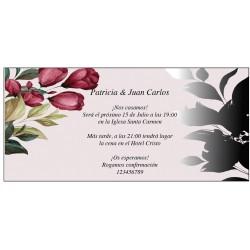 Jolies invitations avec des fleurs