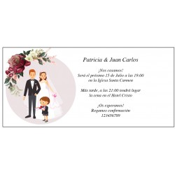 Invitations de mariage originales avec fils