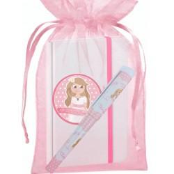 Cadeau de communion avec carnet et stylo dans un sac en...