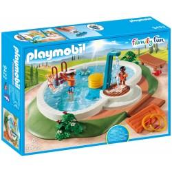 Piscine avec douche et autres accessoires Playmobil