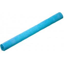 Decoration cadeau papier crepon bleu