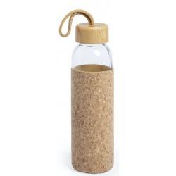 Bouteille en verre de 500 ml avec couvercle en liège.