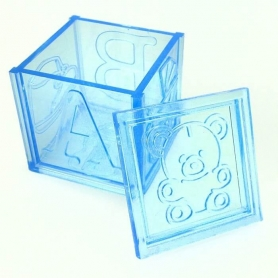 Boite cadeau plastique transparente bapteme