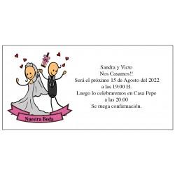 Invitations de mariage bon marché danseurs de mariés