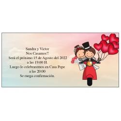 Invitation de mariage Vespa