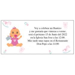 Invitation de baptême bébé Anita