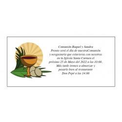 Conception de calice de carte de communion