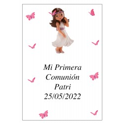Sticker personnalisé Communion Girl Patri 7 x 5