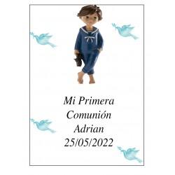 Adrian Boy Communion Adrian 7 x 5 Idéal pour les bouteilles