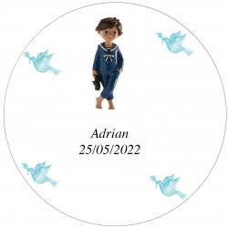 Sticker Rond 2cm Transparent Enfant Adrian