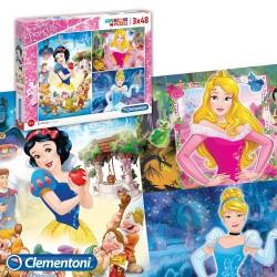 Puzzle Princesses Disney 3 x 48 pièces