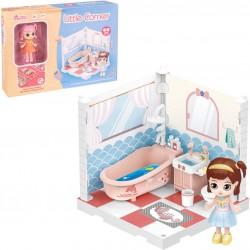 Meubles de salle de bain pour poupées de collection...