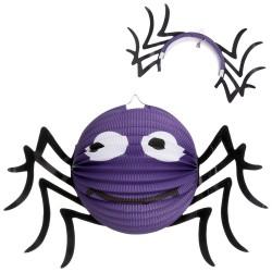 Lanterne araignée en papier 25 x 25 x 25 cm