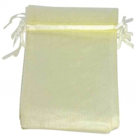 Deco cadeau sac organza beige