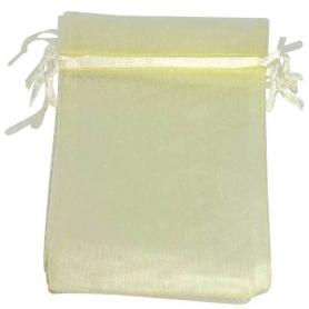 Petit sac cadeau organza beige