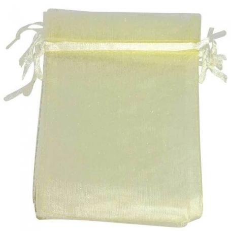 Petit sac cadeau organza beige  petit sachet en organza mariage