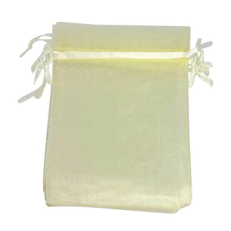 Etui cadeau organza beige 9x15  Sachets organza 9 x 15
