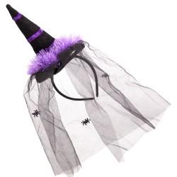 Serre-tête sorcière violet 5 x 2 x 27 cm