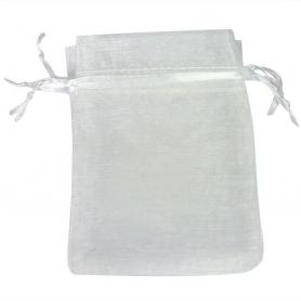 Organza blanc pas cher pochette cadeau  sachets organza 10 x 13