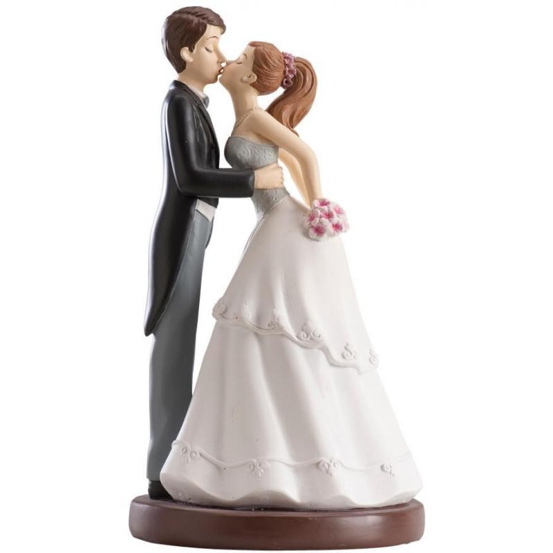 Figurine de mariage bisou original