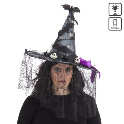 Chapeau de sorcière avec lumière 46 x 46 x 41 cm