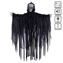 Lumière de mort son et mouvement noir 70 x 10 x 90 cm