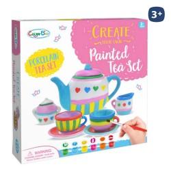 Service à café/thé avec accessoires en céramique