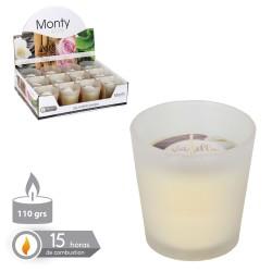 Bougie bocal en verre parfumé ivoire 7.50 x 7.50 cm