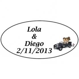 Autocollant pour Cadeau de Mariage Will & Grace Voiture