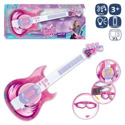 Guitare avec microphone et lunettes 58 cm