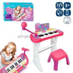 orgue avec banc et micro multifonction 60 cm