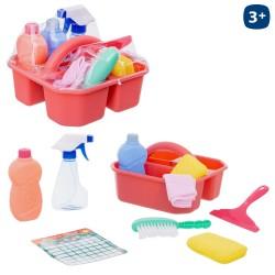 Set de nettoyage S/10 avec panier 23,50 x 22,50 x 14 cm