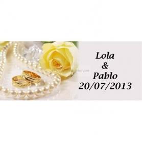 Cartes Cadeaux Mariage Adhesives Perles