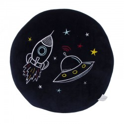 Coussin rond astronaute