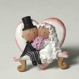 Figurine magnetique mariage